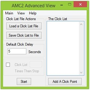 Auto Mouse Clicker v2 Advanced View